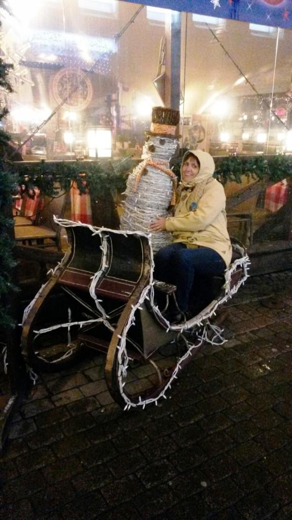 Совсем недавно было Рождество. Снеговик еще не успел уехать в своей карете