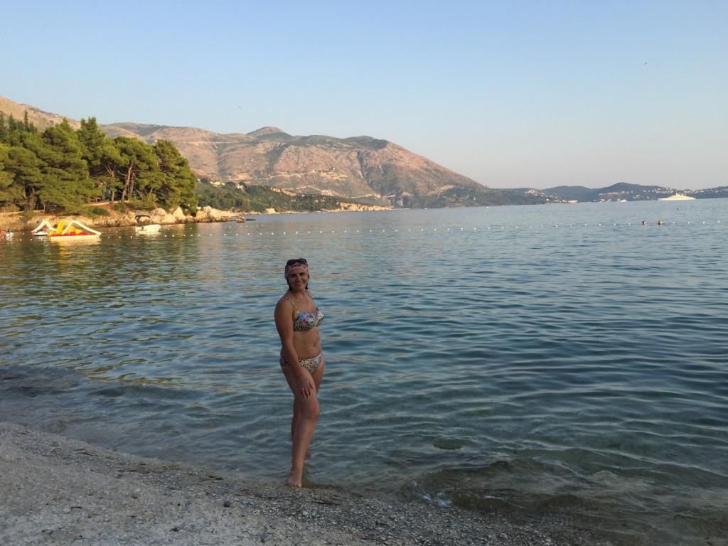 Первое наше купание в Хорватии