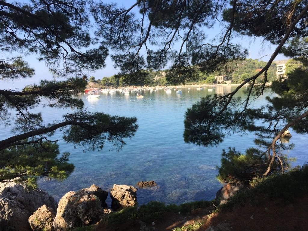 Адриатика в Хорватии. Вид на Сребрено