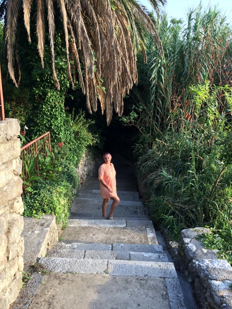 Таких красивых лестниц в Млины много