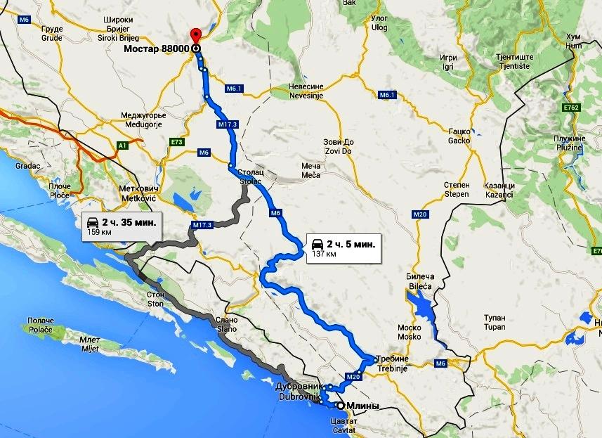 Так выглядит наш маршрут на картах Google