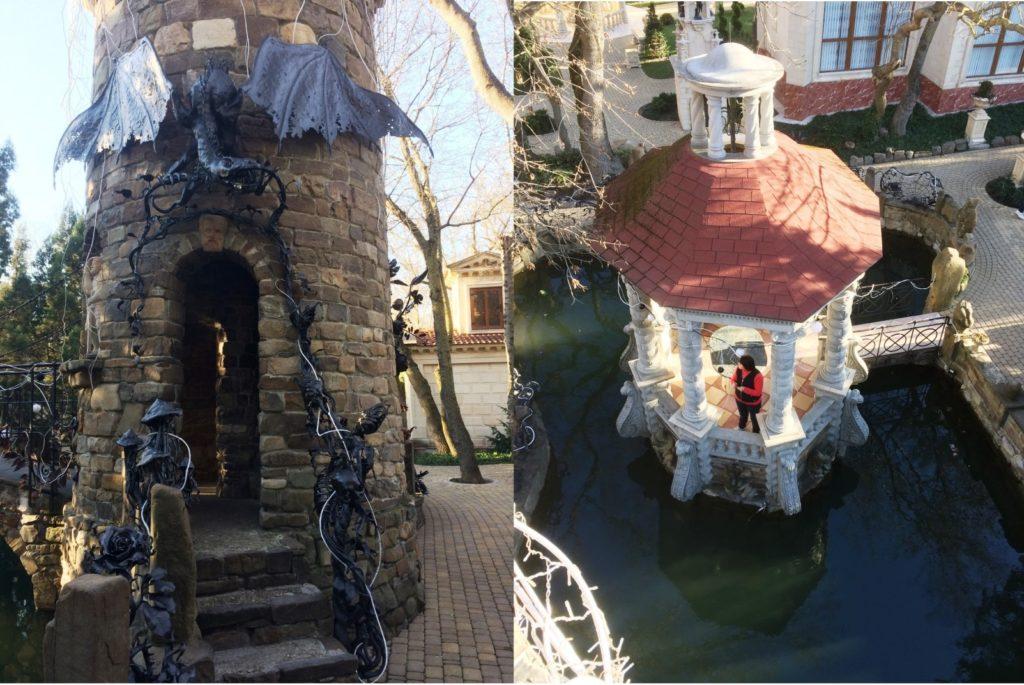Башня, внутри есть винтовая лестница, по которой можно подняться на самый верх и сделать снимок Беседки грехов и грешницы, как таковой