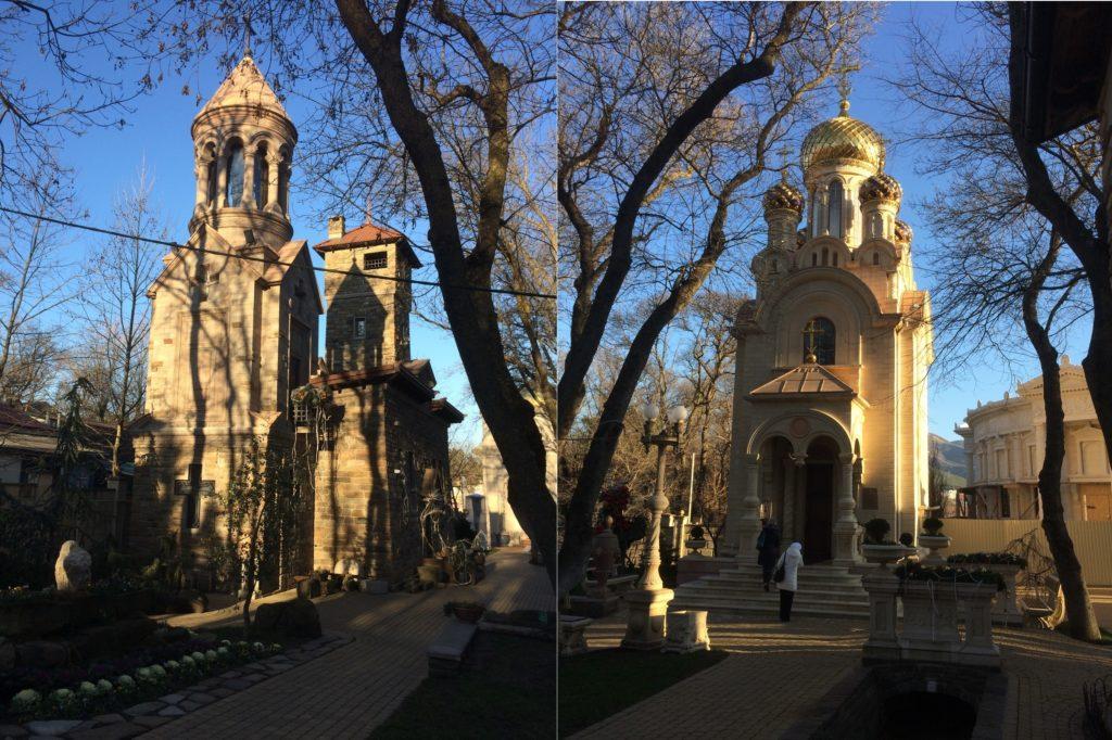 Европейский замок и православная часовня